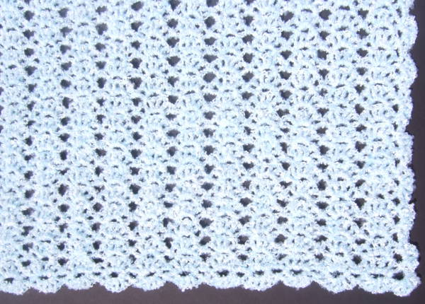 Free Crochet Afghan Patterns Shell Stitch : easy crochet shell afghan pattern