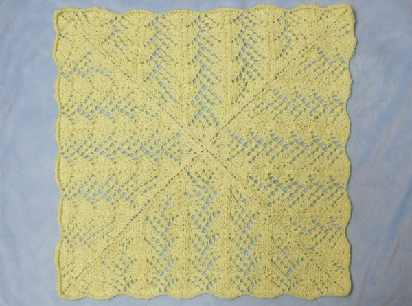 Fan Lace Baby Blanket - Afghans Baby Knitted My Patterns - - Mamas Stitc...