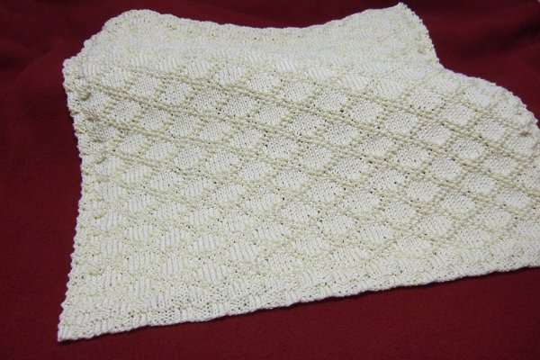 Free 4 Ply Knitting Patterns For Baby Blankets : King Charles Brocade Baby Blanket - Afghans Baby Knitted ...