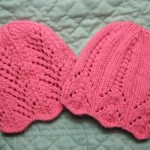 Two Lace Baby Hats