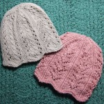Ribbing and Lace Chemo Caps