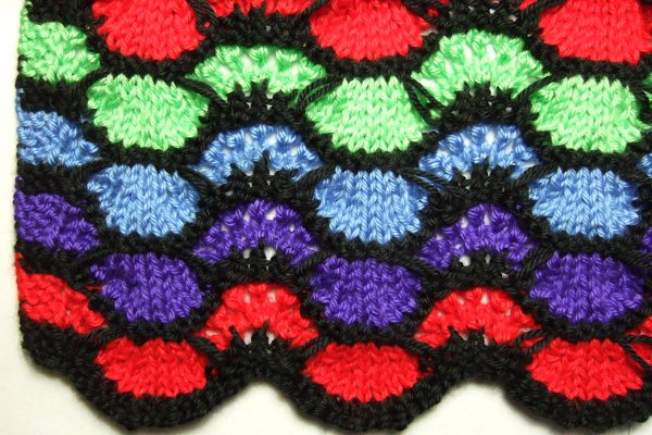 Knitting Pattern For Ripple Afghan : Afghans