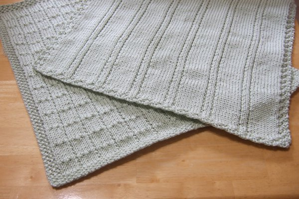 Easy Knit Blanket How To : Simple Lines Baby Blankets - Afghans Baby Knitted My Patterns - - Mamas ...