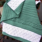 Crocheted Textured Reversible Lap Blanket