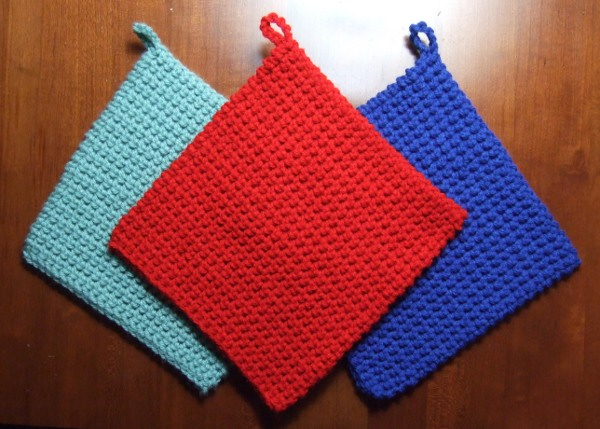 Free Crochet Potholder Patterns For Beginners : CROCHETED PATTERN POTHOLDER - Crochet and Knitting Patterns