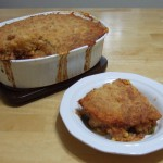 Cornbread Crusted Beef Pie